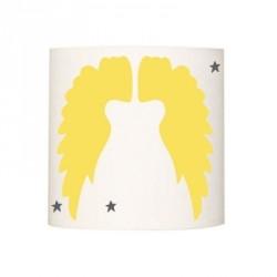 Abat jour ou suspension ailes d'anges unies jaunes
