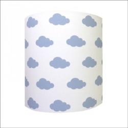 Abat jour ou Suspension ciel de nuages bleu personnalisable