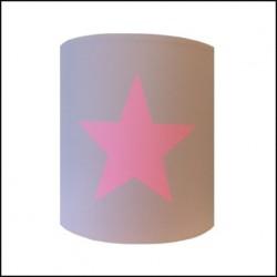 Abat jour ou Suspension etoile rose fond gris  personnalisable