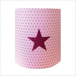 Abat jour ou Suspension etoile rose pailletée fond étoilée