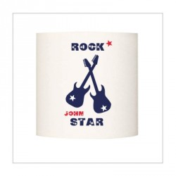 Abat jour ou Suspension guitares rock star bleu personnalisable