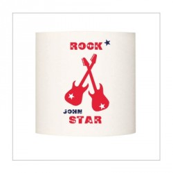 Abat jour ou Suspension guitares rock star rouge personnalisable