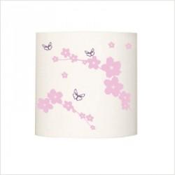 Abat jour ou suspension jardin aux papillons rose et violet