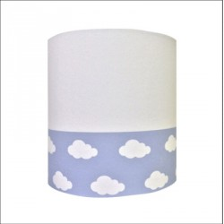 Abat jour ou Suspension nuage blanc bleu haut blanc personnalisable