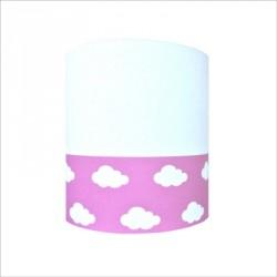 Abat jour ou Suspension nuage blanc rose haut blanc personnalisable