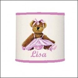 Abat jour ou suspension ours danseuse rose personnalisable