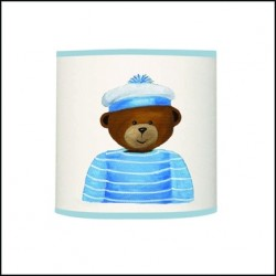 Abat jour ou suspension ours mousse bleu personnalisable