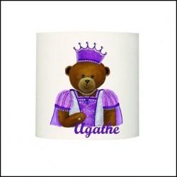 Abat jour ou suspension ours princesse Eugénie personnalisable