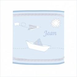 Abat jour ou suspension Petit Jean bleu cylindrique
