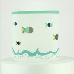 Abat jour ou suspension poissons turquoise