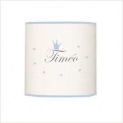 Abat jour ou suspension prénom Timéo cylindrique