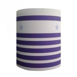 Abat jour ou Suspension rayures marine bleu blanc étoiles personnalisable