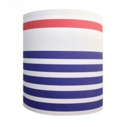 Abat jour ou Suspension rayures marine bleu blanc rouge personnalisable