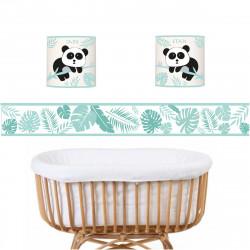 Applique Panda menthe personnalisable