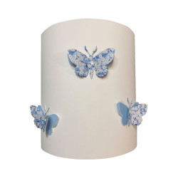 Applique papillons 3D liberty Mitsi bleu