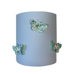 Applique papillons 3D  Elysian fond bleu ciel
