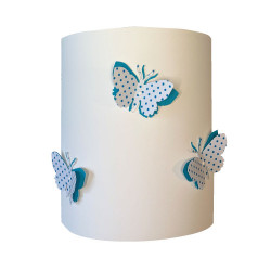 Applique papillons 3D liberty Pois bleu