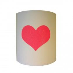 Applique coeur  fluo pailleté personnalisable