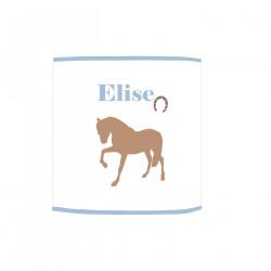 Applique lumineuse cheval beige
