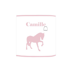 Applique lumineuse cheval rose