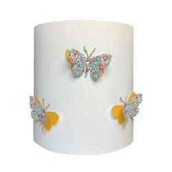 Applique papillons 3D liberty  Eloise aile jaune