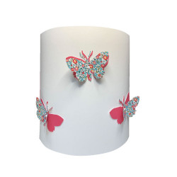 Applique papillons 3D liberty Eloise aile rose