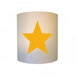 Applique etoile jaune fond blanc personnalisable