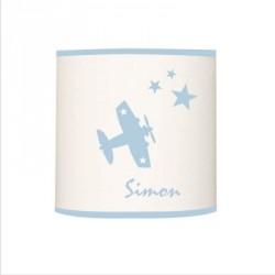 Applique avion star bleu ciel personnalisable