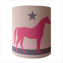 Applique cheval rose personnalisable