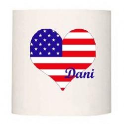 Applique coeur drapeau americain personnalisable