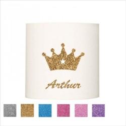 Applique couronne Arthur paillete personnalisable