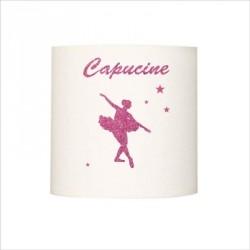 Applique danseuse étoile rose pailletee personnalisable