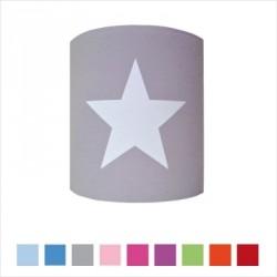 Applique etoile blanche fond de couleur personnalisable