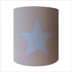 Applique etoile bleue  fond gris personnalisable