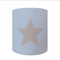 Applique etoile grise fond bleu personnalisable