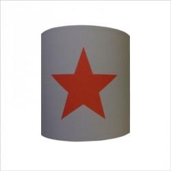 Applique etoile rouge fond gris personnalisable