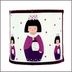 Applique kokeshi au lampion personnalisable