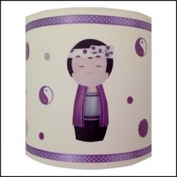 Applique kokeshi garçon violet