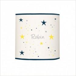 Applique lumineuse étoiles bleu nuit et jaune