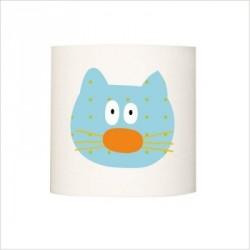 Applique lumineuse chat bleu