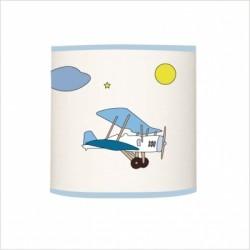 Applique lumineuse rendez vous des avions bleu