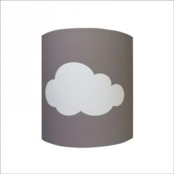 Applique nuage blanc fond gris personnalisable