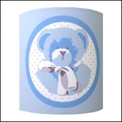 Applique ours bleu fond bleu personnalisable
