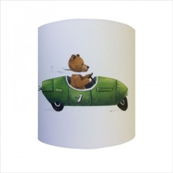 Applique ours en voiture verte personnalisable