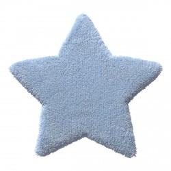 Tapis étoile Zauberstern bleue en laine