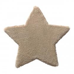 Tapis étoile Zauberstern beige en laine
