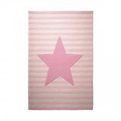 Tapis étoile My little star rose en laine