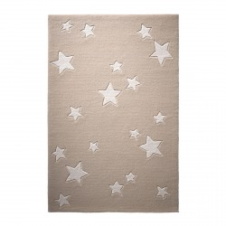 Tapis étoiles Sternenzelt beige en laine