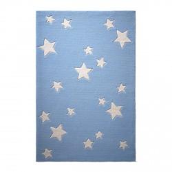 Tapis étoiles Sternenzelt bleu en laine