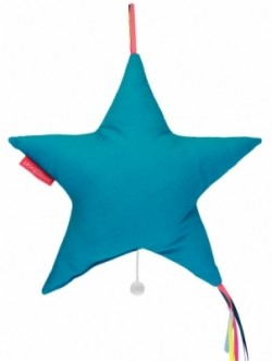 Boîte à musique étoile bleu turquoise